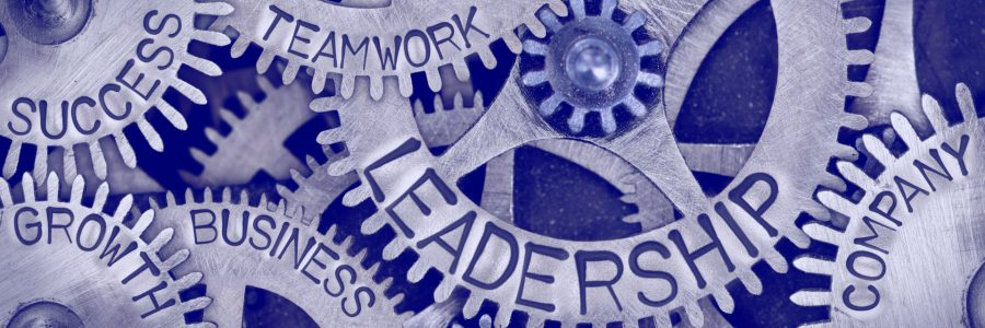 Macro photo of tooth wheel mechanism with LEADERSHIP, TEAMWORK, SUCCESS, COMPANY, GROWTH and BUSINESS concept letters